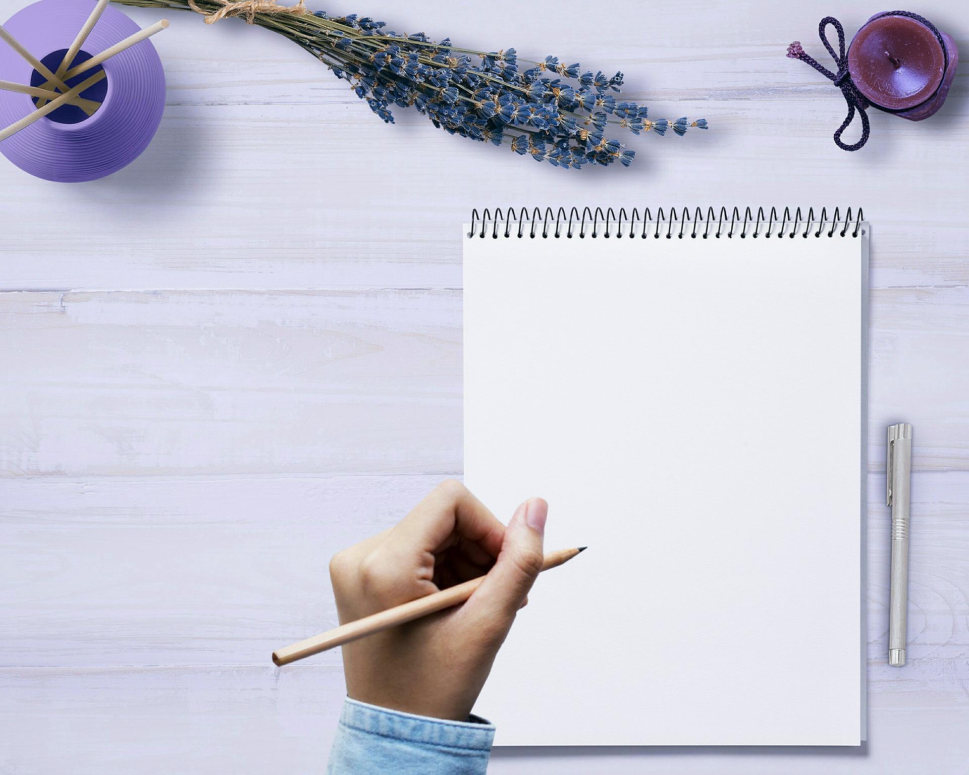Psaní nápad papír