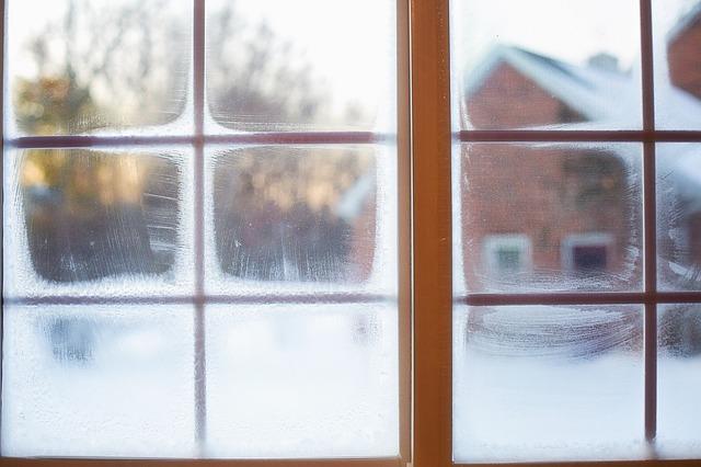 mráz na okně