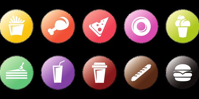 symboly rychlého občerstvení